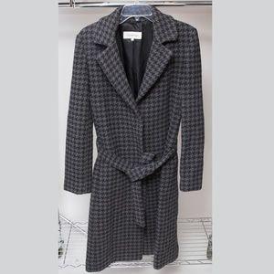 Calvin Klein Long Pea Coat with Waist Tie Size 8